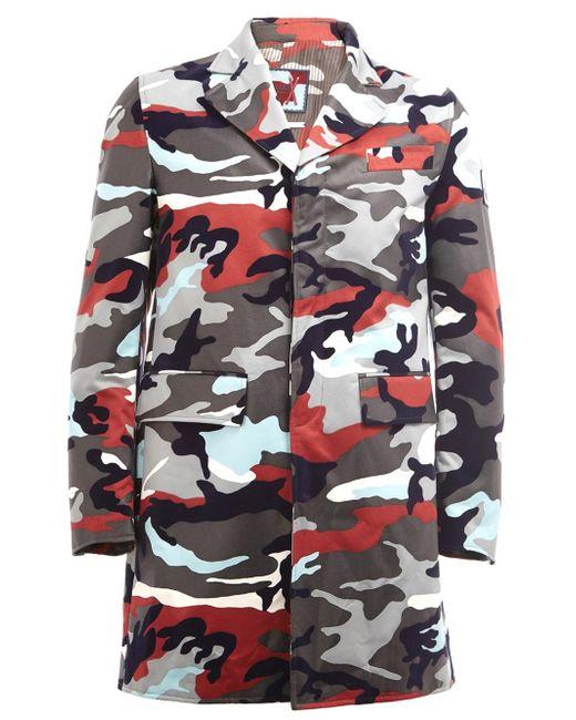 Moncler Gamme Bleu | Multicolor Camouflage Print Coat for Men | Lyst