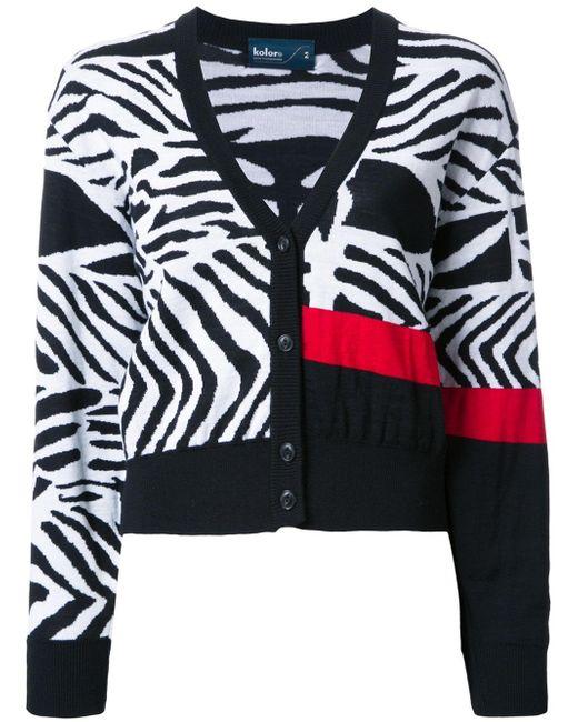 Zebra Cardigan 36