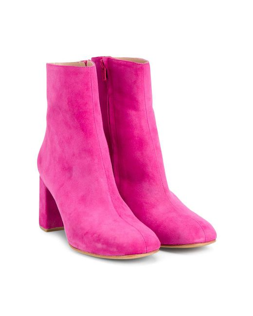 maryam nassir zadeh suede ankle boots in pink save 72