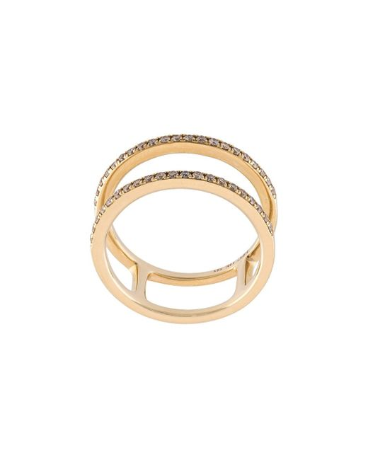 EF Collection | Multicolor Diamond Double Spiral Ring | Lyst