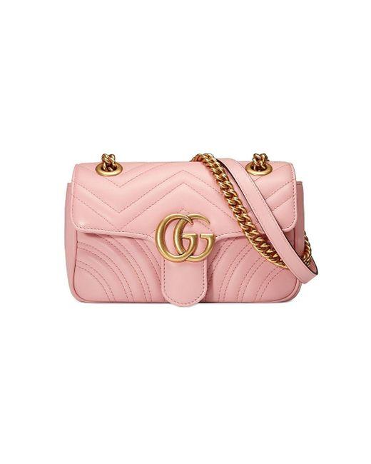Gucci GGマーモント ショルダーバッグ ミニ Pink