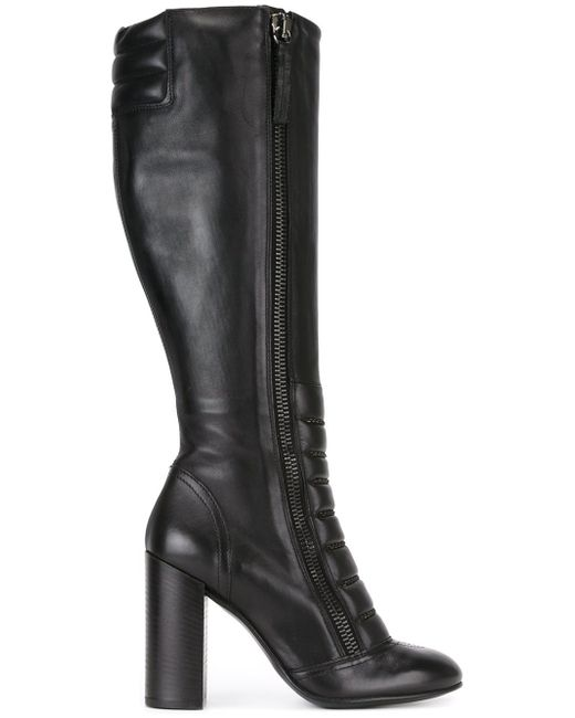 DIESEL | Black Knee-high Boots | Lyst