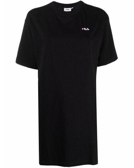 Платье-футболка С Вышитым Логотипом Fila, цвет: Black