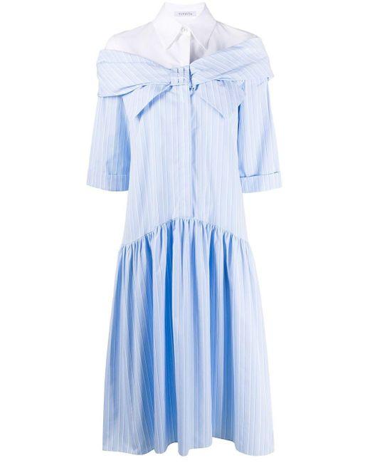 Vivetta リボン シャツドレス Blue