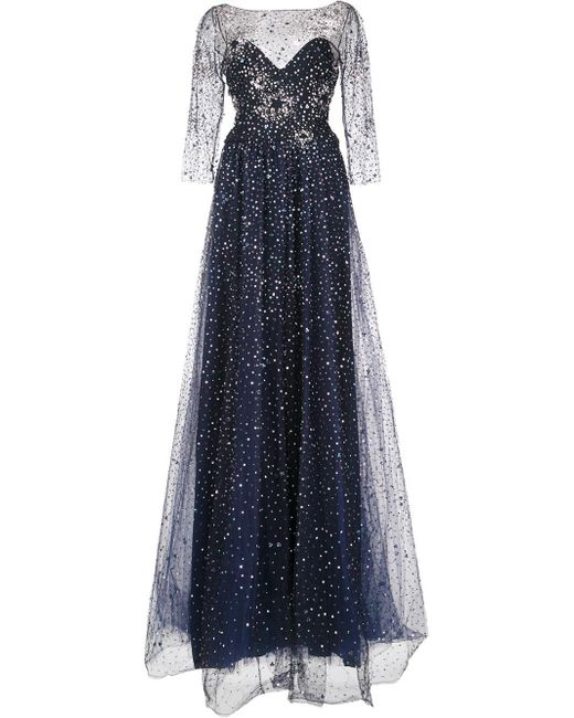 Notte by Marchesa | Black Embellished Gown | Lyst