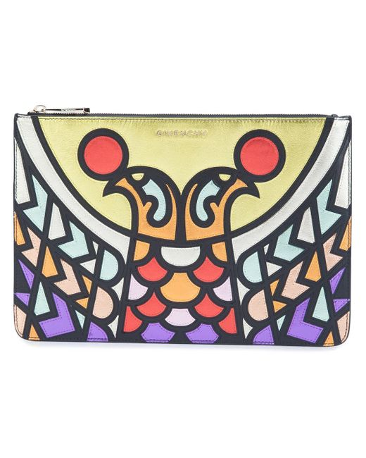 Givenchy | Multicolor Pandora Medium Bird Patchwork Pouch | Lyst