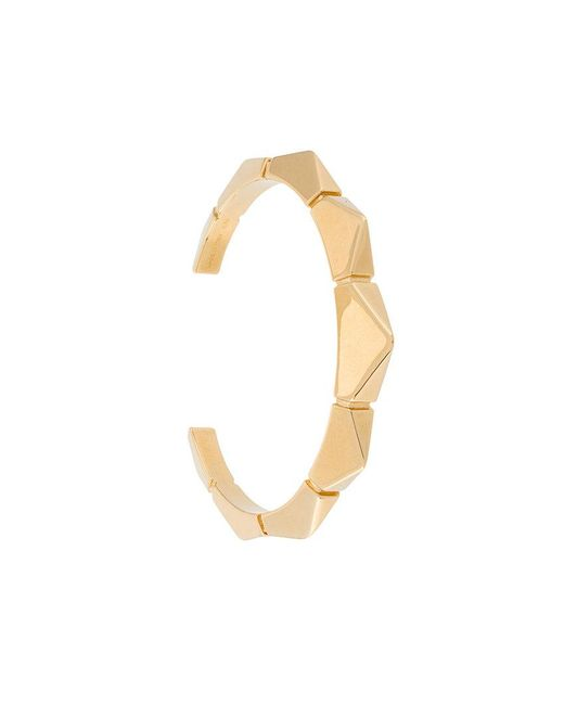 Chloé - Metallic Geometric Bracelet Cuff - Lyst