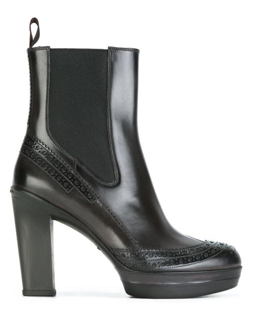 santoni chelsea platform boots in black lyst. Black Bedroom Furniture Sets. Home Design Ideas