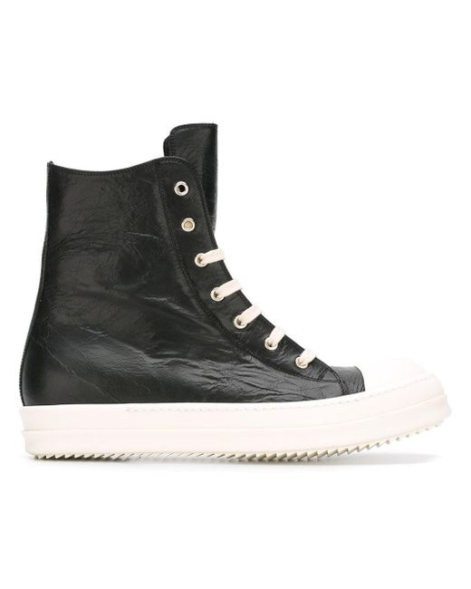 Rick Owens | Black Hi-top Sneakers for Men | Lyst