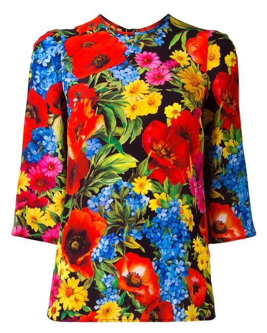 Dolce & Gabbana   Multicolor Floral Print Top   Lyst