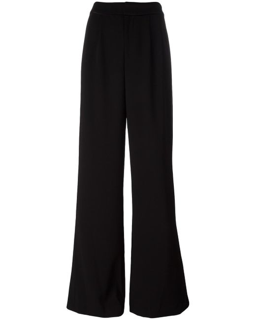 Alice + Olivia   Black Wide-legged Tailored Trousers   Lyst