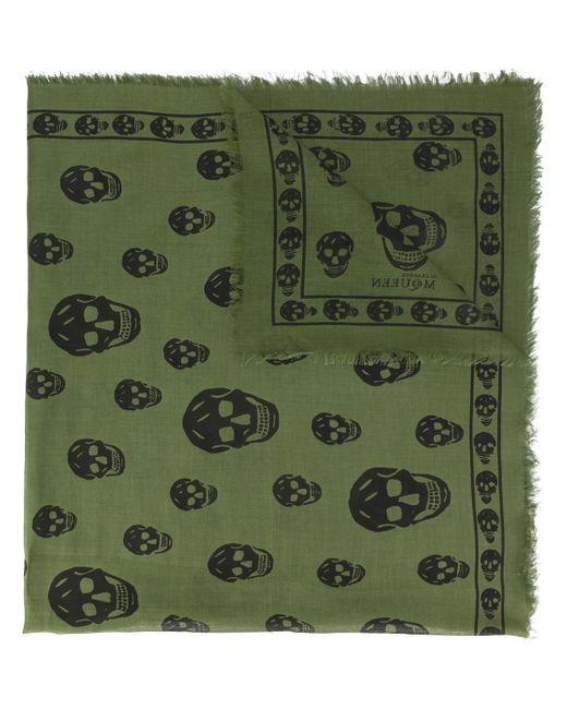 Alexander McQueen | Green Skull Print Scarf | Lyst