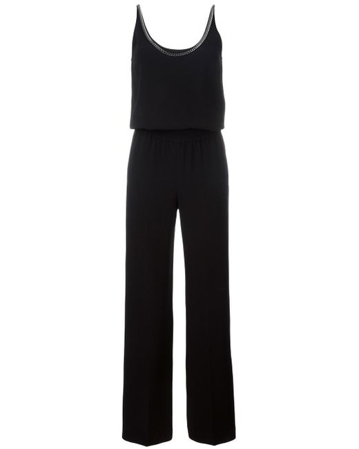 Stella McCartney | Black Back Chain Trim Jumpsuit | Lyst
