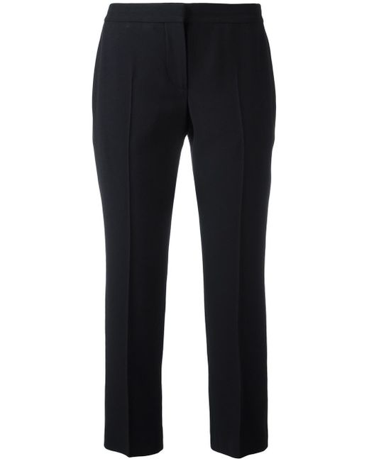 Alexander McQueen | Black Cropped Trousers | Lyst
