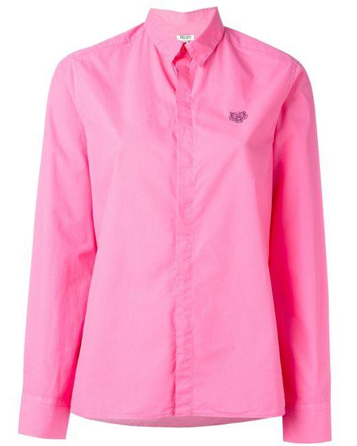 KENZO | Pink Mini Tiger Shirt | Lyst