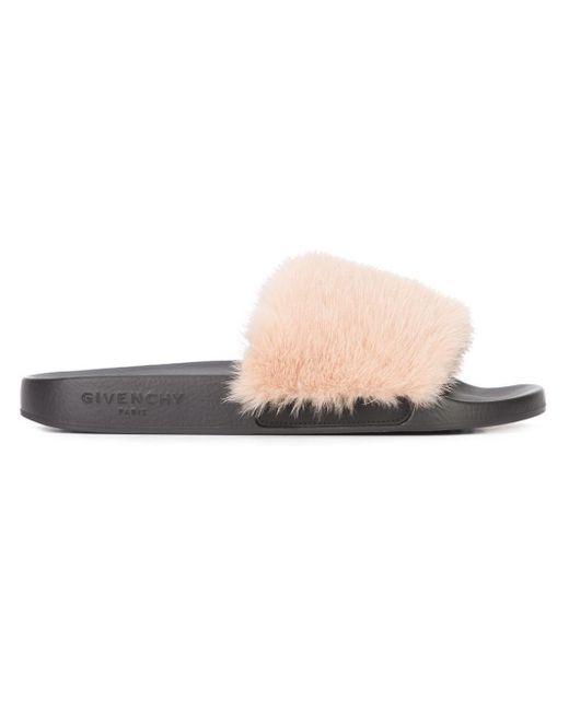 Givenchy | Pink - Mink Fur Slides - Women - Calf Leather/mink Fur - 5 | Lyst