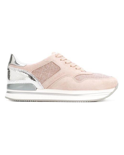 Hogan | Pink Contrast Panel Sneakers | Lyst