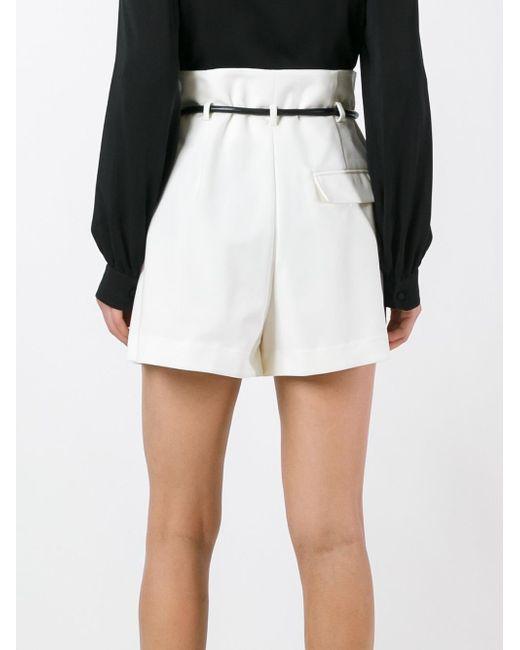 3.1 phillip lim Origami Pleat Shorts in White | Lyst