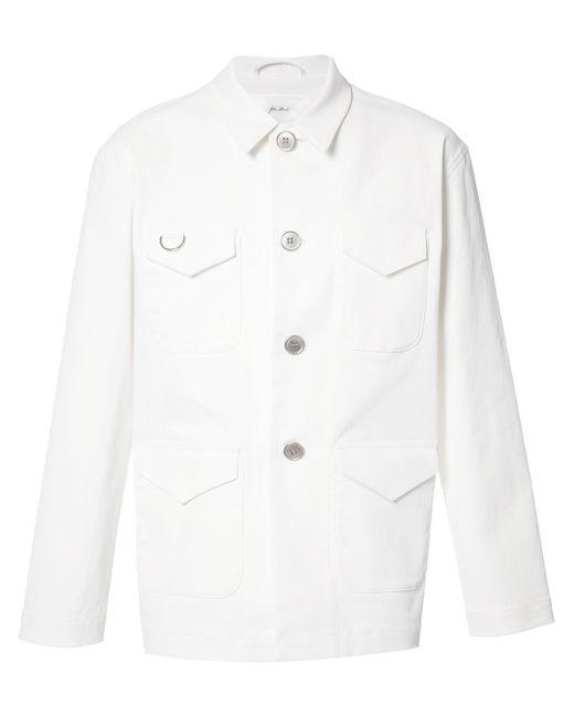 Julien David | White Buttoned Jacket for Men | Lyst