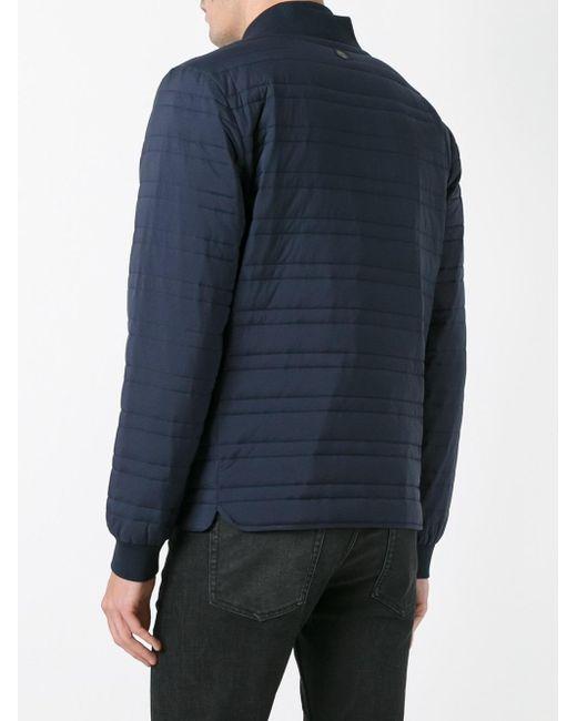 z zegna body warmer bomber jacket in blue for men lyst. Black Bedroom Furniture Sets. Home Design Ideas