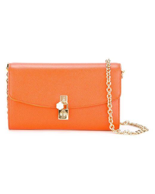 Dolce & Gabbana | Orange Dolce Shoulder Bag | Lyst