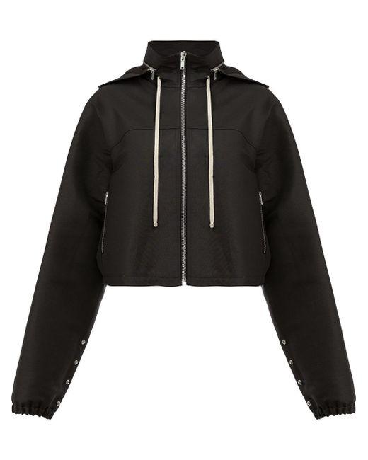 Rick Owens | Black Detachable Hood Zipped Jacket | Lyst