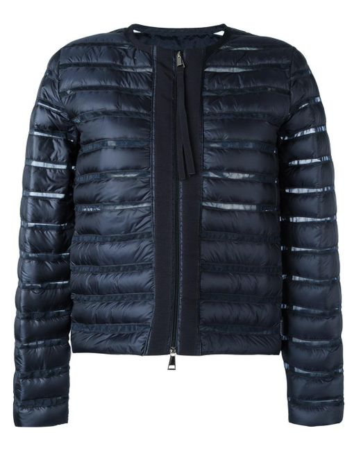 Moncler | Blue Sheer Panel Padded Jacket | Lyst