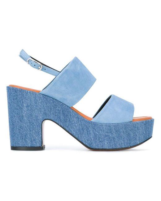 Robert Clergerie | Blue Platform Sandals | Lyst