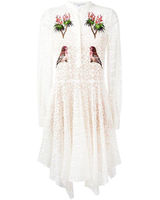 Stella McCartney | White Embroidered Robin Lace Dress | Lyst