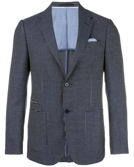 Z Zegna | Blue Patterned Blazer for Men | Lyst