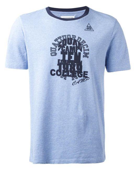 Maison Margiela | Blue Camp Print Ringer T-shirt for Men | Lyst