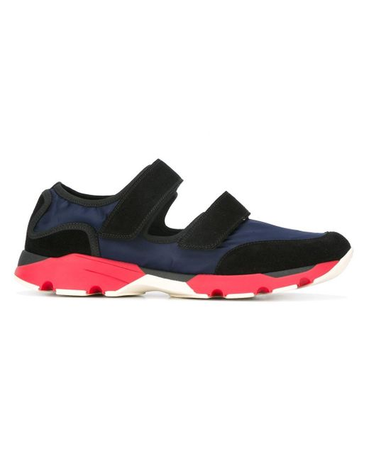 Marni | Blue Double Strap Low-top Sneakers for Men | Lyst