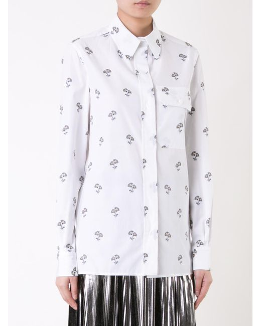Victoria Beckham Single Pocket Shirt In White Lyst