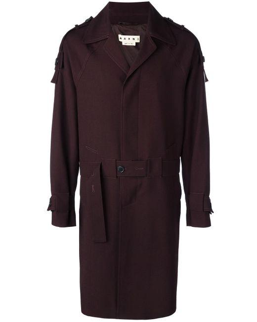Marni | Black Single Breasted Trenchcoat for Men | Lyst
