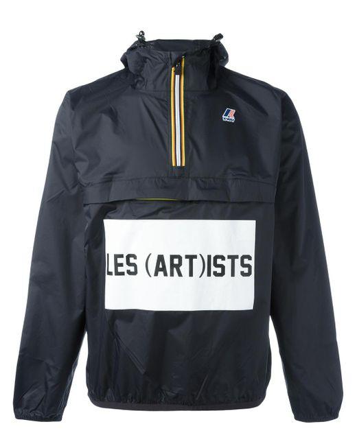 LES (ART)ISTS | Black K-way X Les (art)ists Logo Print Jacket | Lyst