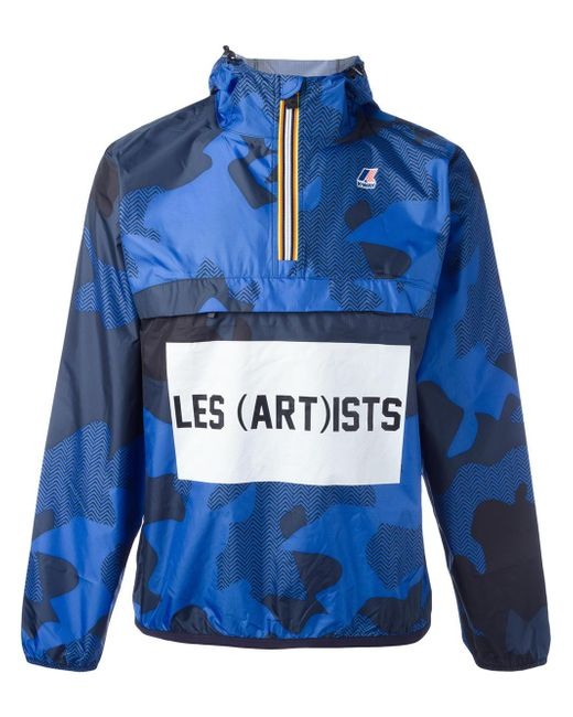 LES (ART)ISTS | Blue K-way X Les (art)ists Logo Print Jacket for Men | Lyst