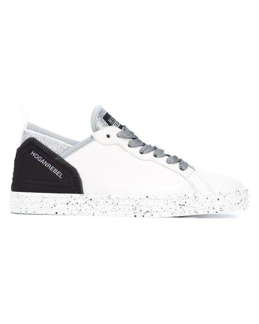 Hogan Rebel | White Glitter Detail Sneakers | Lyst