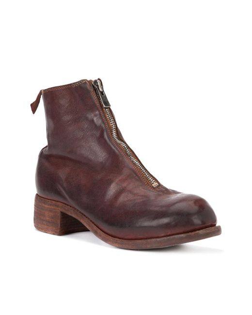 Guidi - Front Zip Boots - Men - Horse Leather/leather - 41 in Red ...