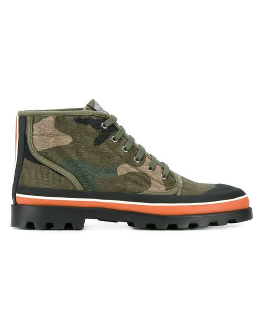 Valentino | Green Garavani Camouflage Boots for Men | Lyst