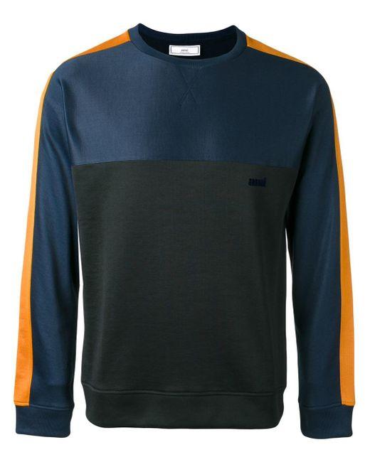 AMI | Blue Crew Neck Sweatshirt for Men | Lyst