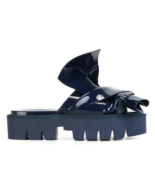 N°21 | Blue Knotted Slider Sandal | Lyst