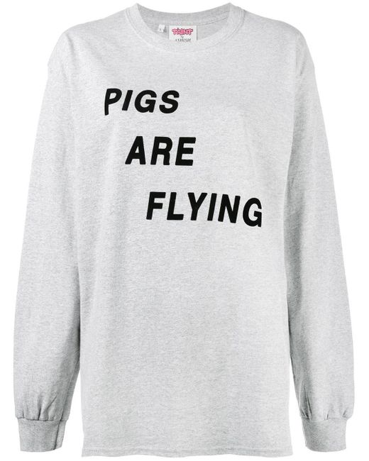 Ashish | Gray Pigs Are Flying T-shirt | Lyst