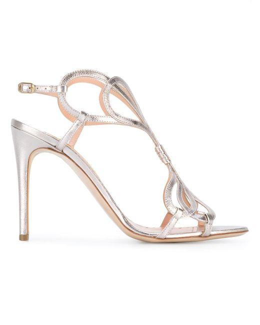 Rupert Sanderson   Metallic Sandals   Lyst