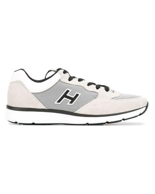 Hogan | Gray Panelled Sneakers for Men | Lyst