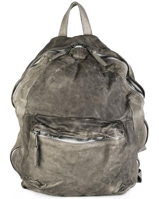 Giorgio Brato Front Zip Backpack In Gray For Men | Lyst