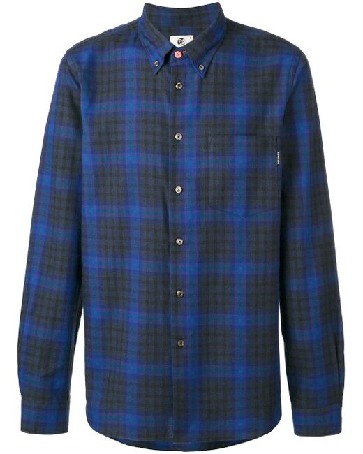 PS by Paul Smith | Blue Plaid Shirt for Men | Lyst