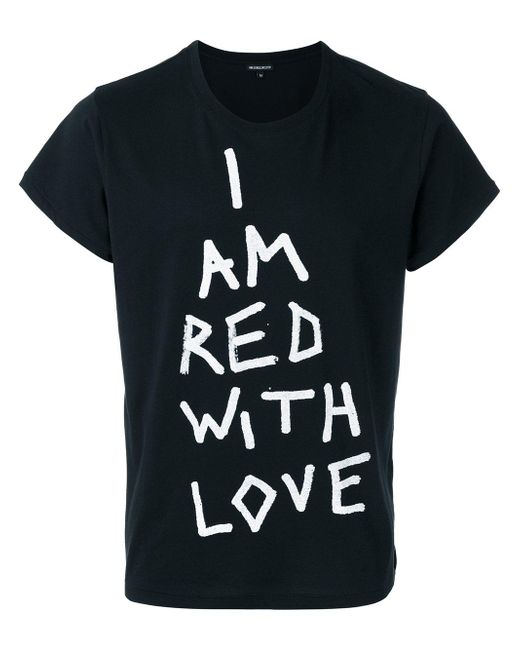 Ann Demeulemeester | Black Red With Love T-shirt for Men | Lyst