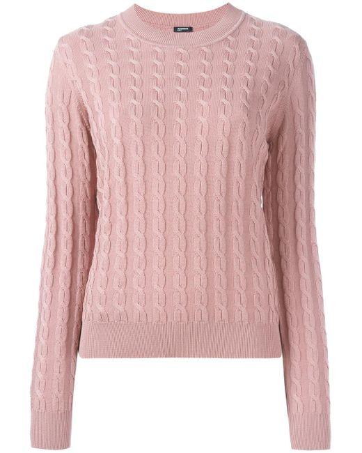 Jil Sander Navy | Pink Cableknit Pullover | Lyst