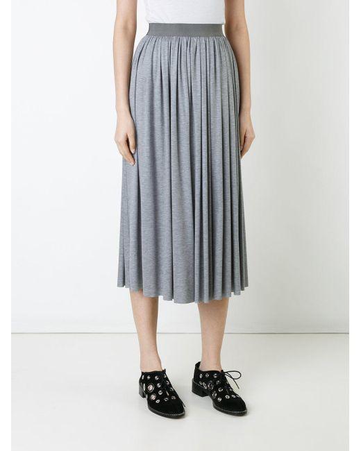 astraet pleated skirt in gray lyst