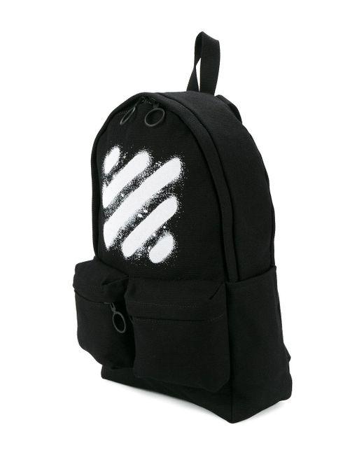 off white c o virgil abloh spray paint backpack in black. Black Bedroom Furniture Sets. Home Design Ideas